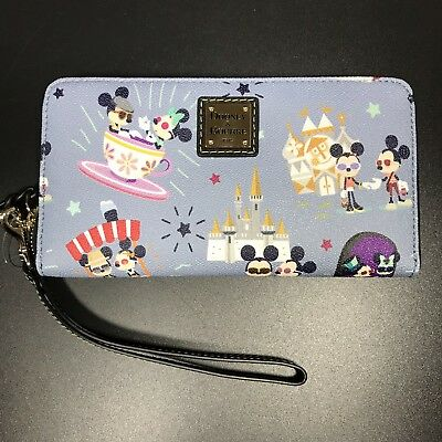 NWT Dooney & Bourke Mickey and Minnie Disney Zip Wallet Hipster Dumbo 2018