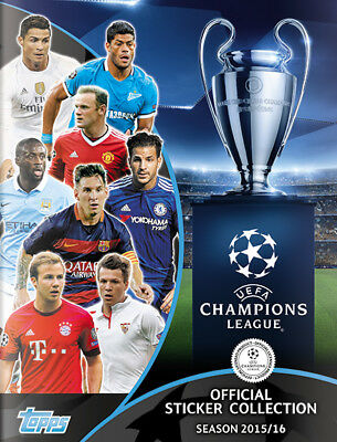 Champions League 2015/16 Topps Complete Sticker Set 1-619