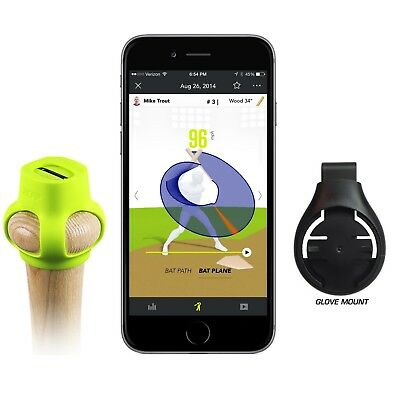 Zepp 2 Baseball + Zepp Golf Mount 3D Swing Sensor 2018 Data Christmas Gift