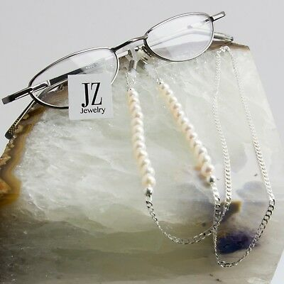 Silver and Freshwater Pearl Eye Glasses Chain Spectacles Holder Granny Gift