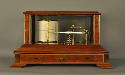 BRASS INLAID MAHOGANY BAROGRAPH - F .Darton ,London