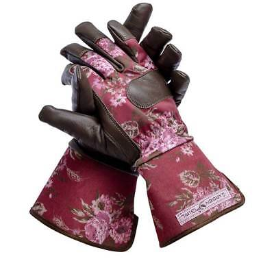 Garden Girl Classic Cherry Winter Working Gloves Ladies Garden Gloves Size Large