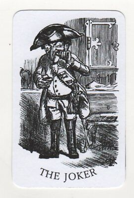 Single Joker Playing Card - Caricature Soldier Taking Snuff