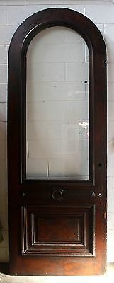 """39""""x112"""" Antique Arched Arch Exterior Entry Wood Door Tempered Glass Lite Window"""