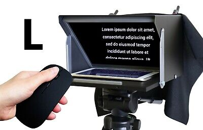 Teleprompter Black Fish XL. Prompter 13'' for iPad, iPhone, Tablet, Smartphone