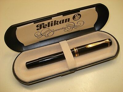 Vintage Pelikan M200 (Old Style Version), Resin In Black Glossy Color, W/ Box.