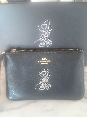 100% Authentic Coach Disney X Minnie Mouse Wristlet Brand New In Box