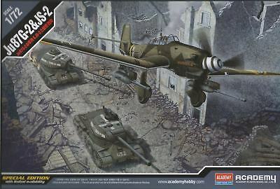 Academy 1:72 Scale - German JU87G-2 & Soviet JS-2 Model Kit 12539