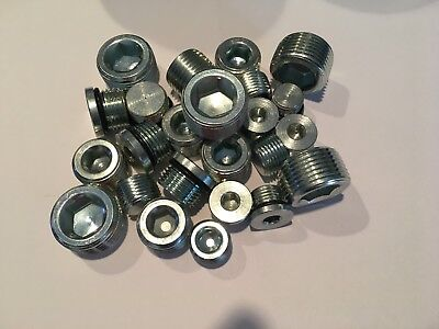 Steel Plug Assortment 50 Pieces  10 Each Of 5 Different Sizes Made In Usa