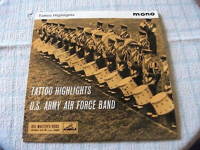 """US Army Air Force Band Tattoo Highlights 1959 7"""" UK PS EP Nr Exc ! Super Audio !"""