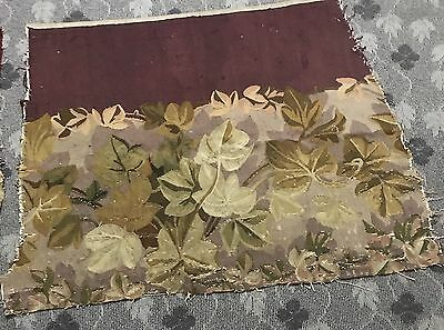Antique 18C Aubusson French Hand Woven Tapestry Rug Panel For Cushion