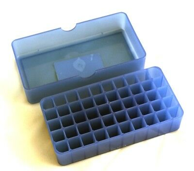 Camlab Plastics RTP/72051-B Storage Box 50 Slots - Blue Polypropylene pack of 10