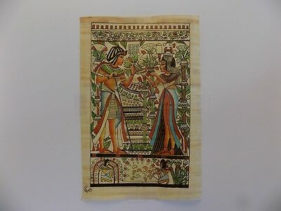 "Egyptian Papyrus Original Hand Painted Made in Egypt 11.5'' X 8"" FREE SHIPPING"