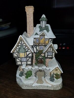 David Winter Cottages Christmas 1994 The Scrooge Family Home - SIGNED