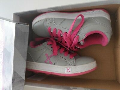 Heelys Trainers Size 12 Girls Pink and Grey Exc Cond with Box