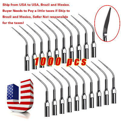 1000pcs Dental Ultrasonic Scaler Tips Scaling GD3 for DTE SATELEC SKYSEA SANDENT