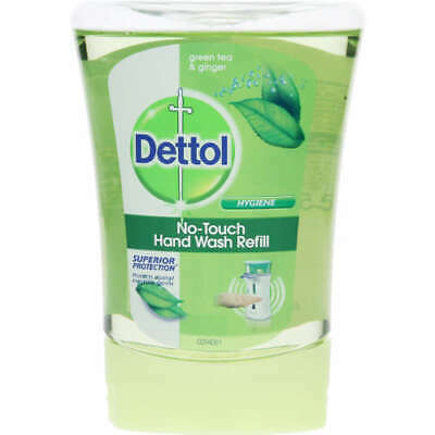 5 X 250ml Dettol No Touch Antibacterial Hand Wash Refills - Green Tea and Ginger