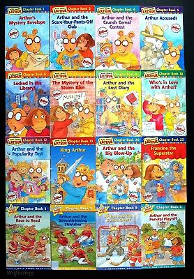 8 Arthur Early Chapter Books Lot Marc Brown 3rd Grade Rl3 Pbs Buster