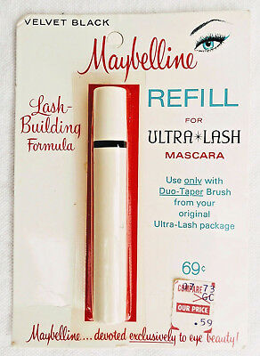 Vintage Maybelline Velvet Black refill for Ultra Lash Mascara, new in package