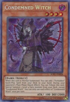 YuGiOh Condemned Witch - SOFU-EN028 - Secret Rare - 1st Edition Near Mint