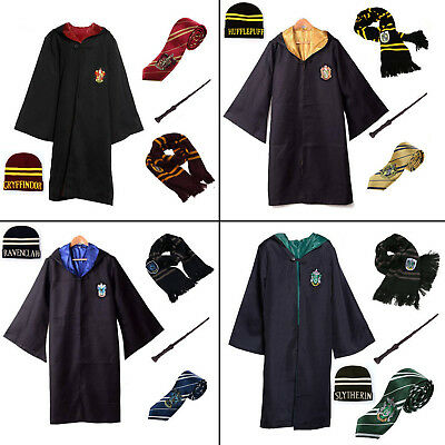 Harry Potter Gryffindor Slytherin House Scarf Hat Tie Kid Adult Costume Cosplay