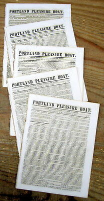 5 1859 PORTLAND Maine newspapers w news from THE PIKES PEAK GOLD RUSH Colorado
