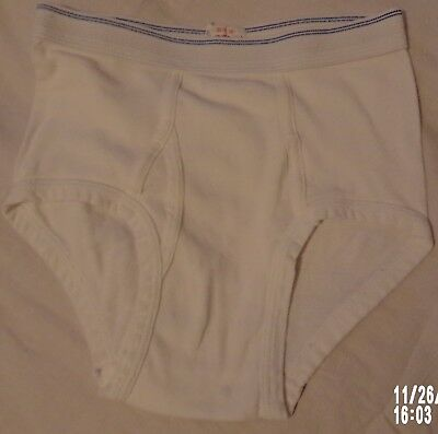1 pr 1980's DEADSTOCK Vintage Fruit Of The Loom BOY'S BRIEF Sz 10 Made In USA