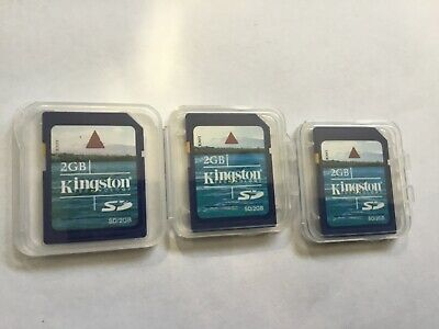 2pcs 2gb Kingston standard SD SECURE DIGITAL MEMORY CARD for older sd CAMERAS