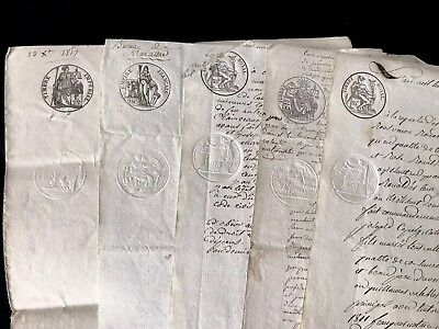 1800s COLLECTION OF FIVE Handwritten Documents