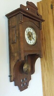 Antique B.u.W. Free Swinger Wall Clock Keeps Good Time & Strike Nicely