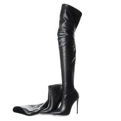 Women Pointed Toe Real Leather Thigh High Over the Knee Boots Stiletto Shoes New