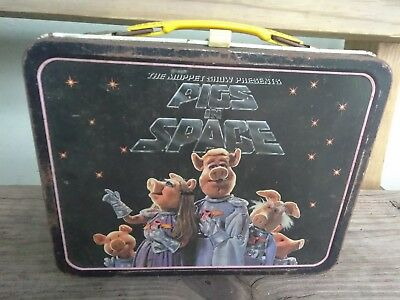 Pigs In Space Vintage Metal Lunchbox With Original Thermos Good Condition 1970's