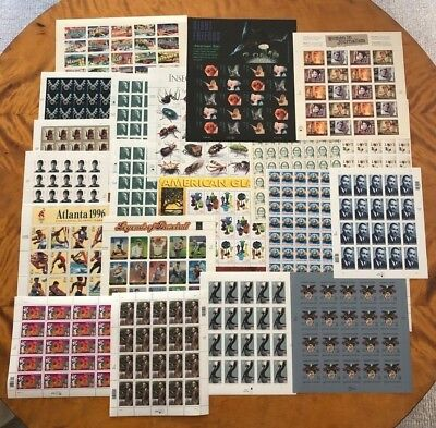 US Postage,  Full Sheets $167.45 Face Value, MNH