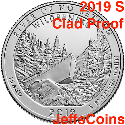 2019 S Frank Church River of No Returns Wilderness Area ID Quarter CLAD PROOF US