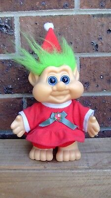 Retro Christmas Troll Doll - Mrs Claus - Itb 1991