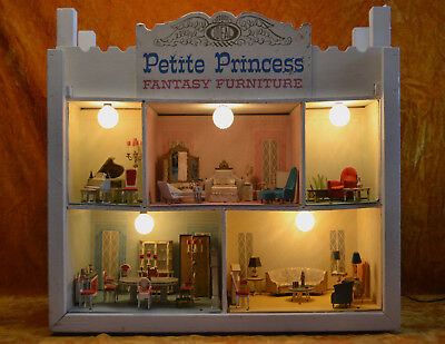 "Ideal's Petite Princess Fantasy Furniture House ""STORE DISPLAY"" 1964"