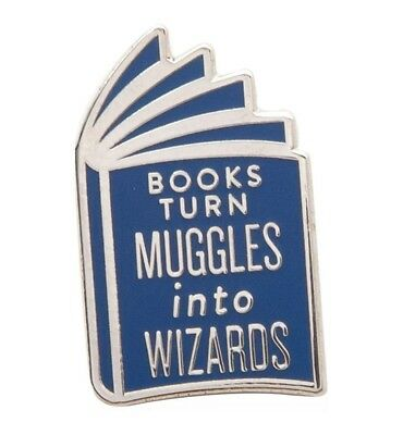 Harry Potter Books Turn Muggles Into Wizards Pin