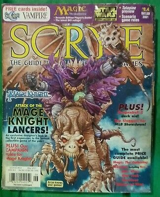 SCRYE Magazine 8.4 May/June 2001 Guide To Collectible Card Games