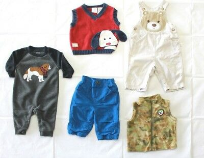 Lot of 5 Baby Boy Winter Fall Clothes Size 3-6M