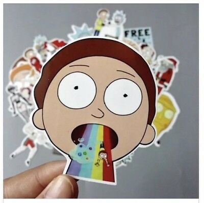 10 Glossy Rick and Morty Stickers