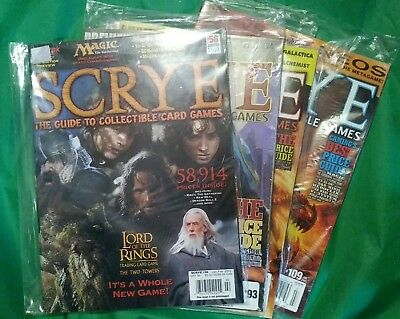 SCRYE Magazine lot #56 #93 #97 #109 Guide To Collectible Card Games