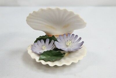 MM Boehm Porcelain Oyster Shell Figurine Chicory