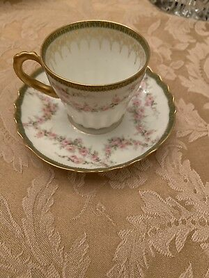 THEODORE HAVILAND LIMOGES FRANCE demitasse Cup/saucer