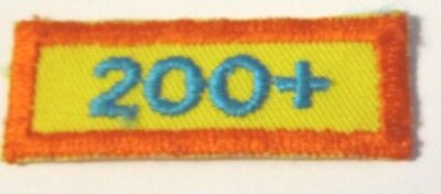 "Vintage Girl Scout Cookie Sale Patch  ""200+"" circa 1982"