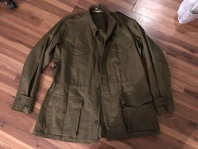 Mint Conditon Deadstock Armee Army Field Jacket French France 1956 50s Vtg Xl