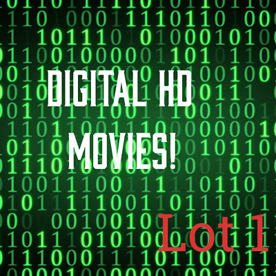 Digital HD Movie Codes! Fast Delivery! Low Prices! Lot 1