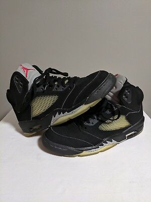 445f0ae87cff Nike Air Jordan 5 Black Metallic Silver 2000 Size 9.5 Retro V 1999  136027-001
