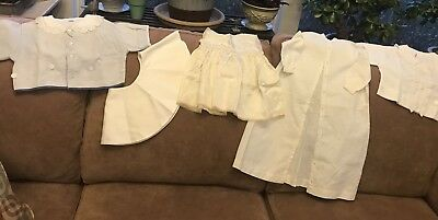 Lot Of 5 Pieces  Of Children'S Vintage Clothing-Blouses, Collar, Dresses
