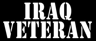 3x8 inch Black IRAQ Veteran Sticker (Served Vet Military Army Iraqi soldier)