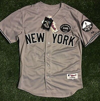 Majestic MLB New York Yankees Authentic Jersey Jeter Bob Sheppard Men's 50 NWT